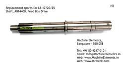 Shaft, A814400, Feed Box Drive