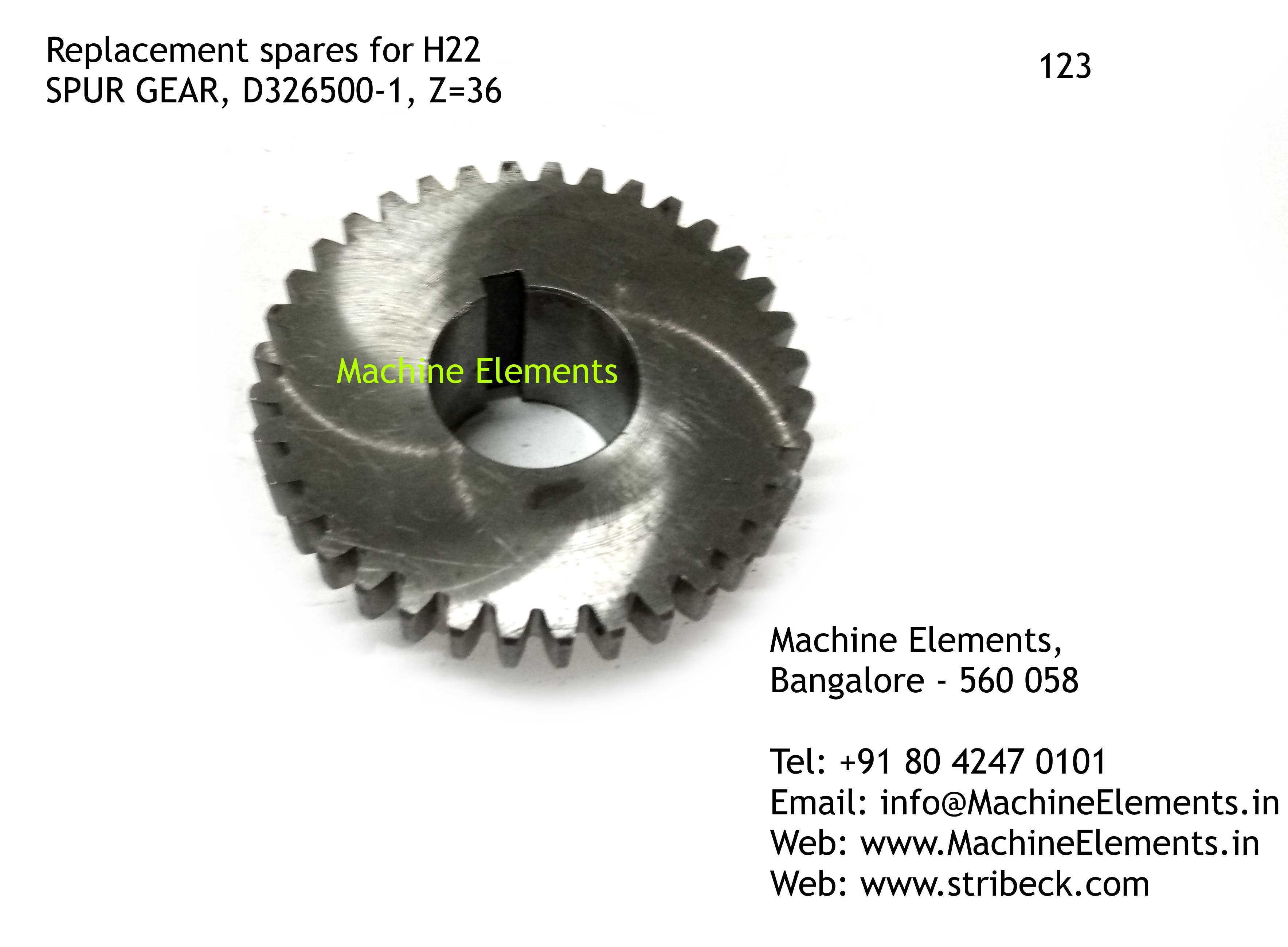 SPUR GEAR, D326500-1, Z=36