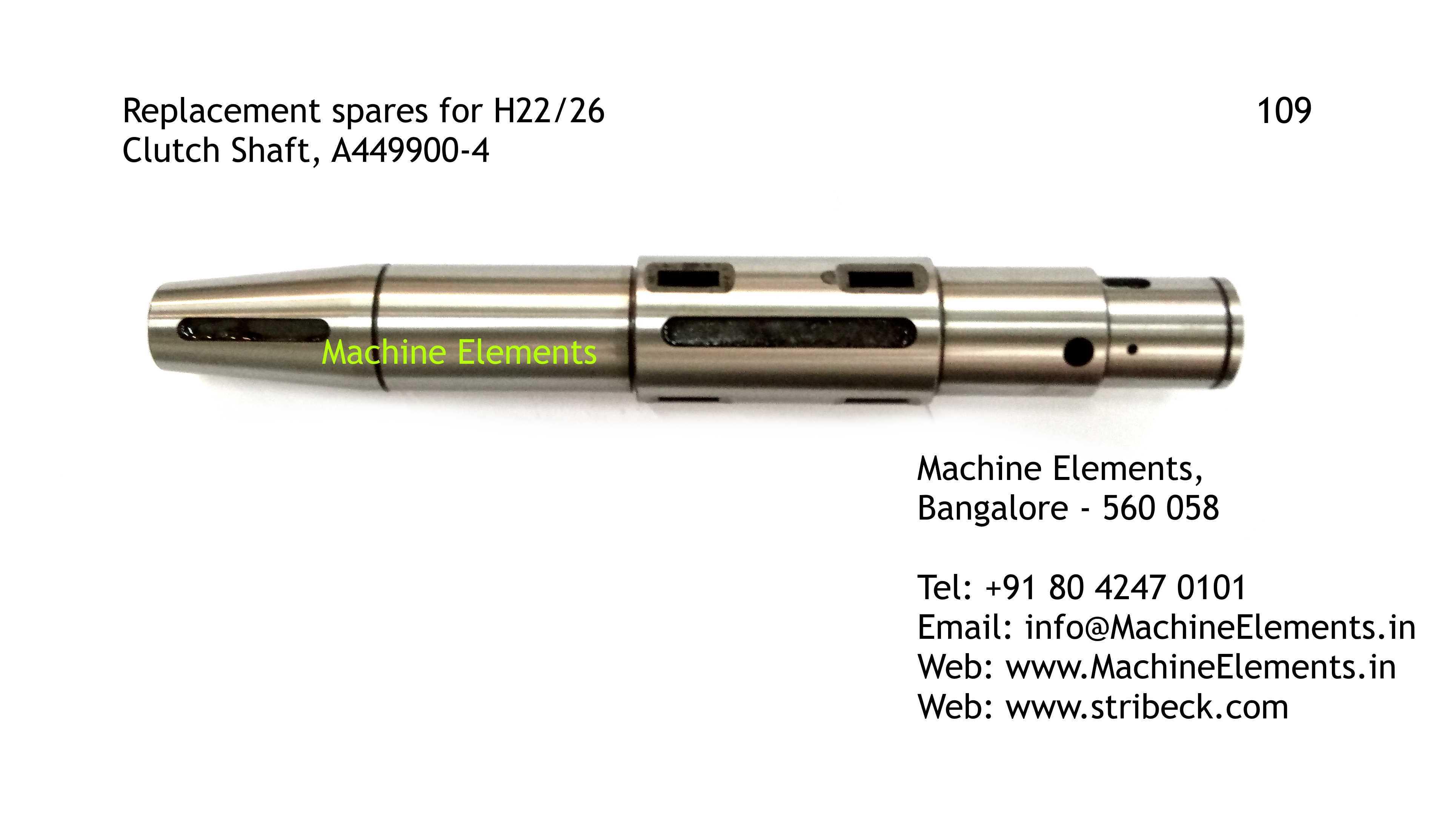 Clutch Shaft, A449900-4