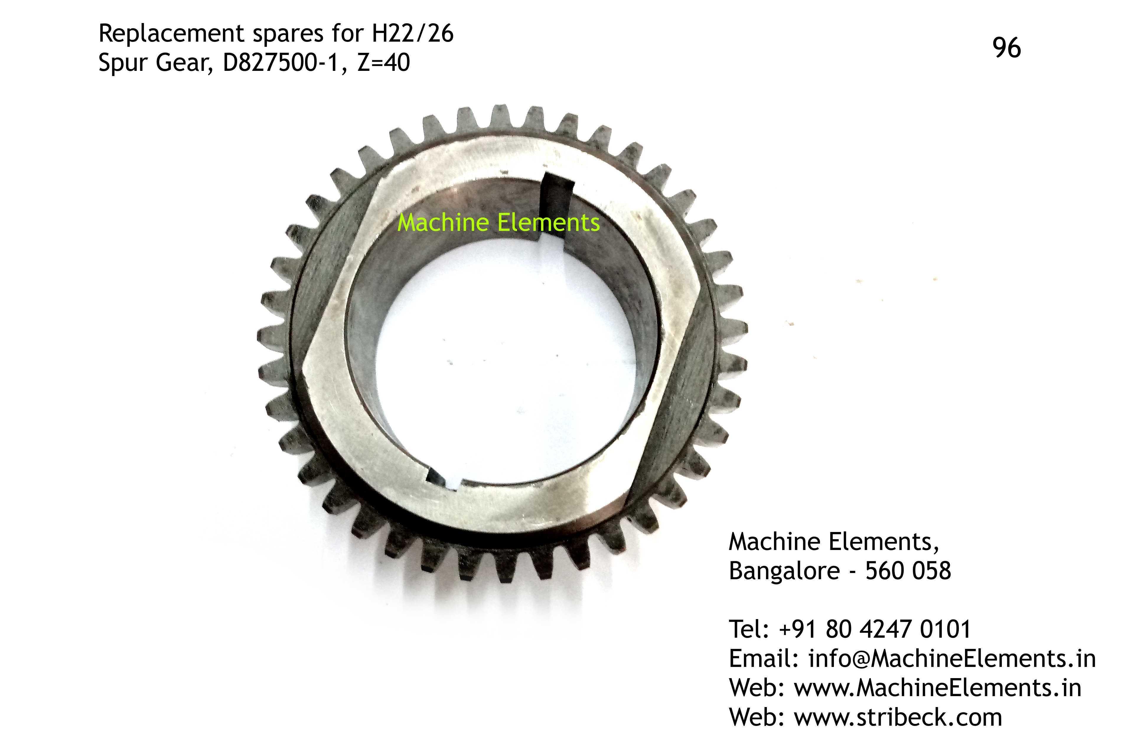 Spur Gear, D827500-1, Z=40