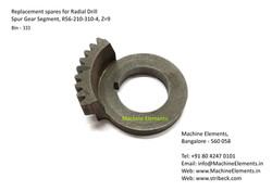Spur Gear Segment, R56-210-310-4, Z9