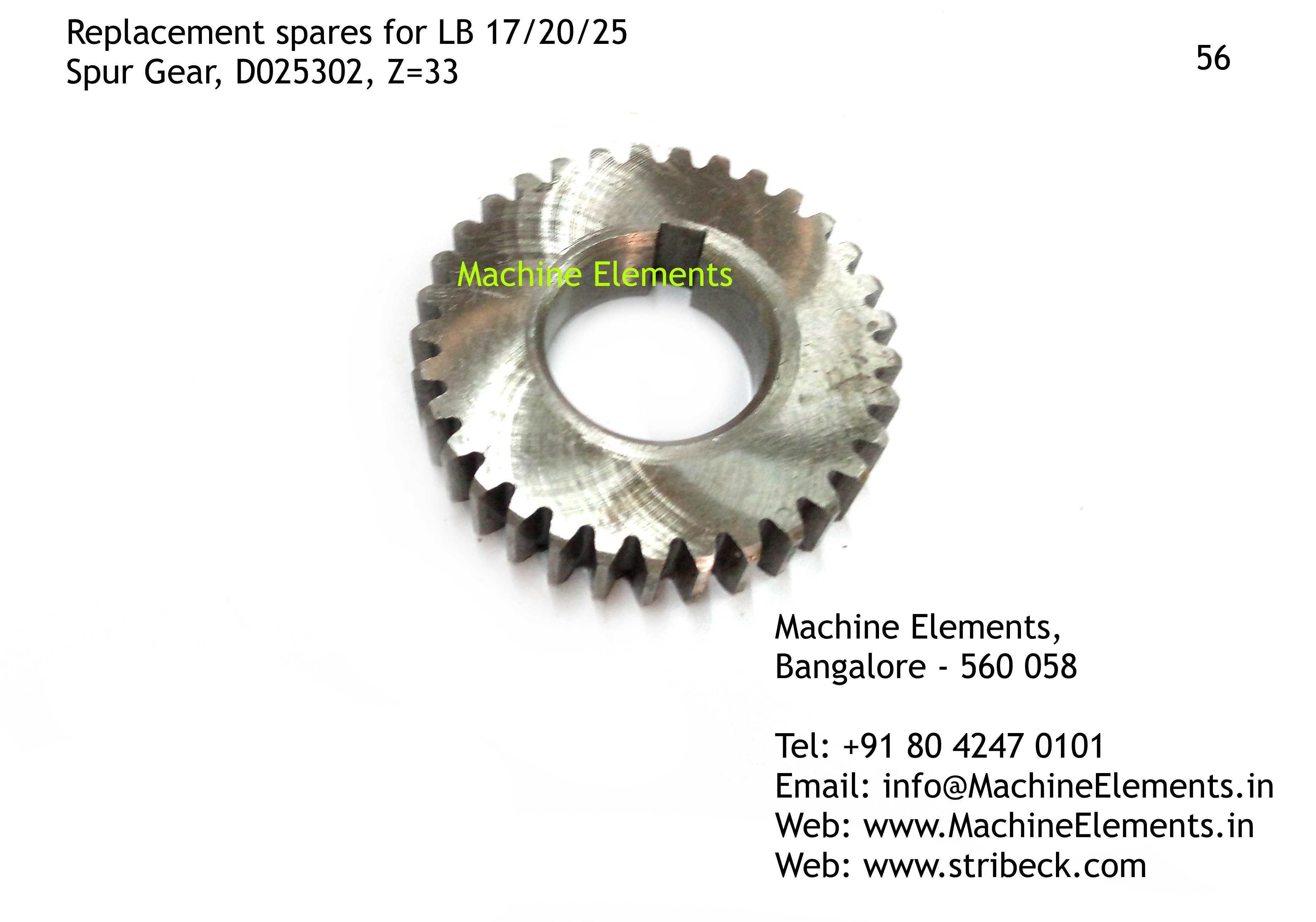 Spur Gear, D025302, Z=33