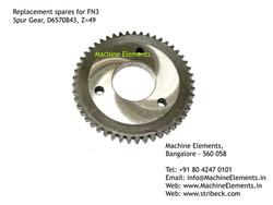 Spur Gear, D6570843, Z=49