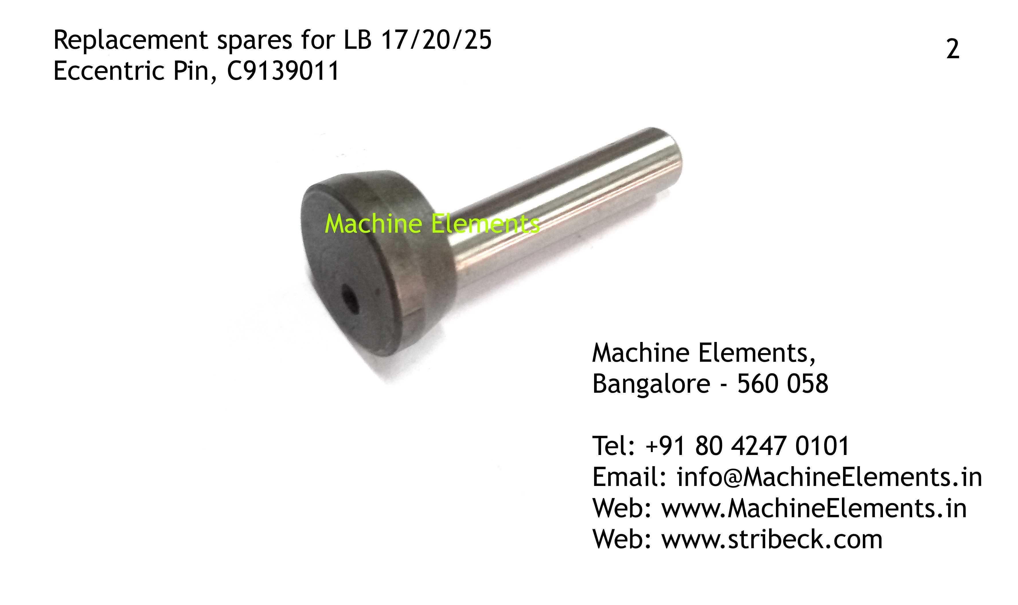 Eccentric Pin, C9139011