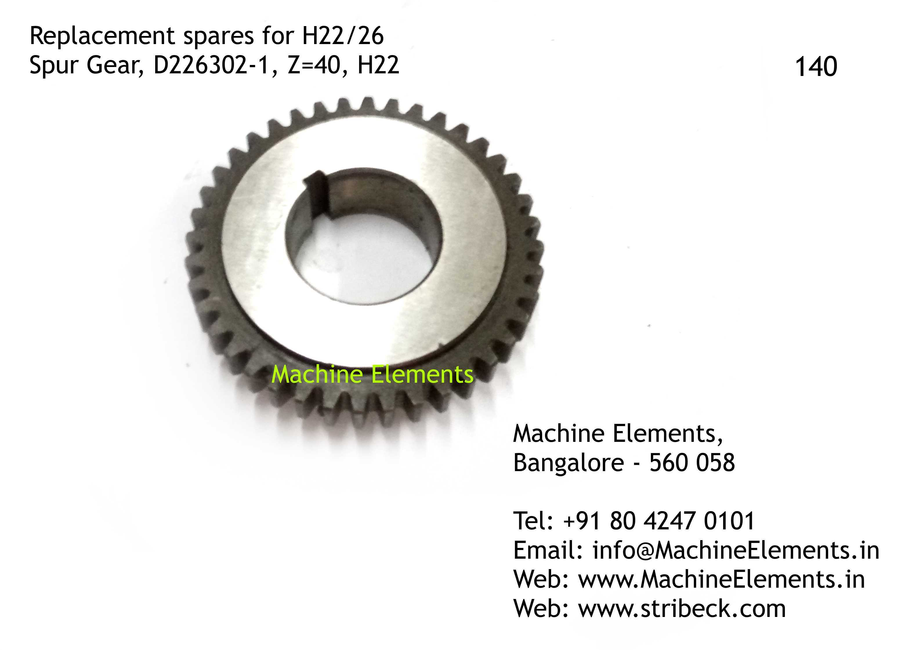 Spur Gear, D226302-1, Z=40