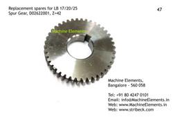 Spur Gear, D02622001, Z=42