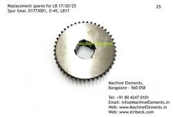 Spur Gear, D1773001, Z=45