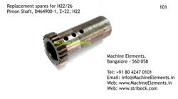 Pinion Shaft, D464900-1, Z=22, H22