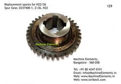 Spur Gear, D337400-1, Z=36