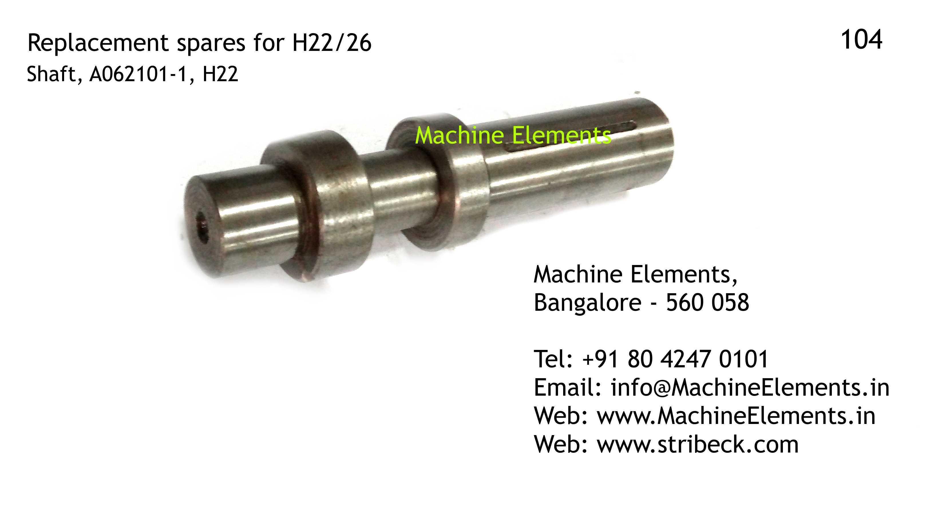 Shaft, A062101-1, H22