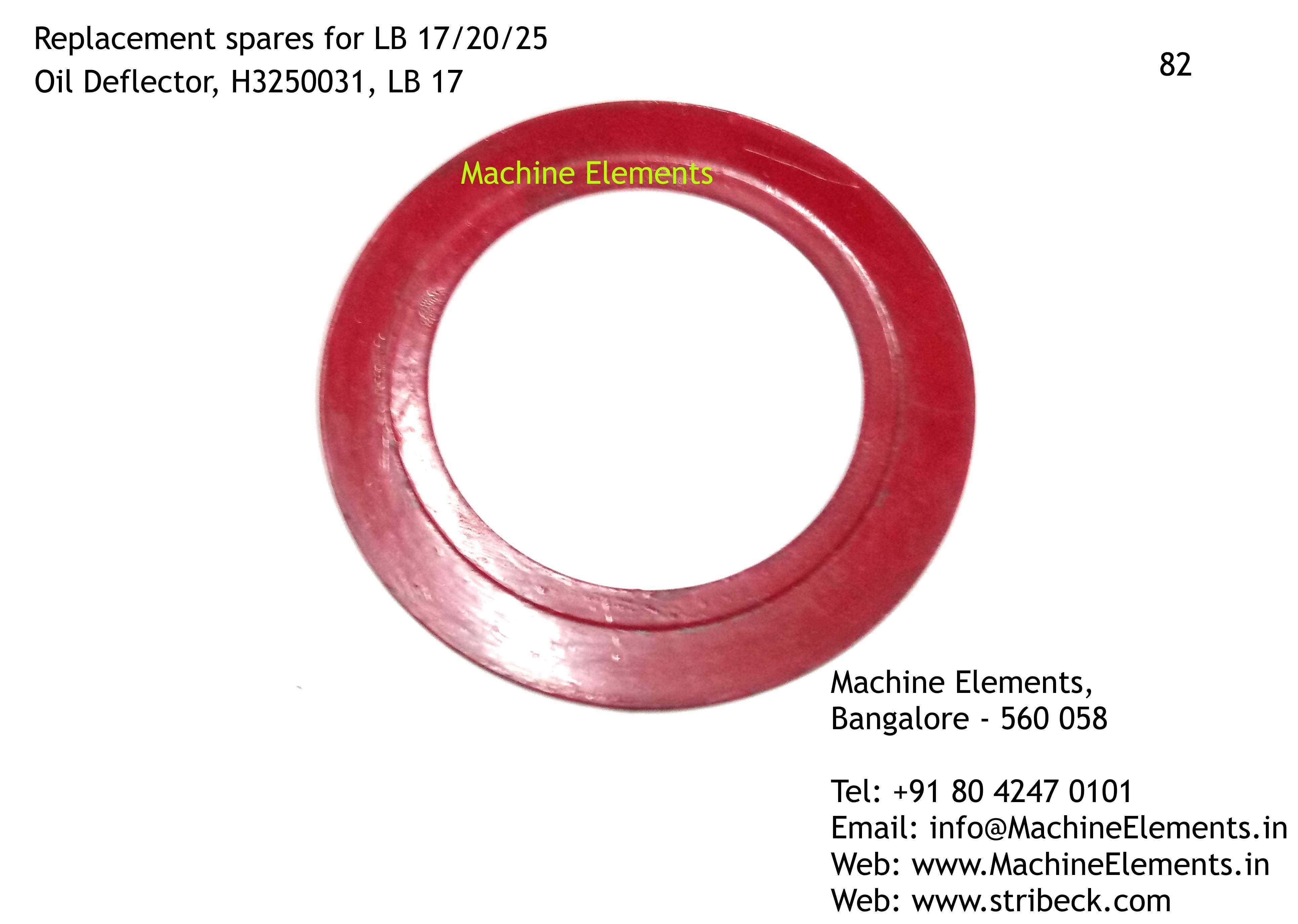 H3250031, Oil Deflector, LB 17