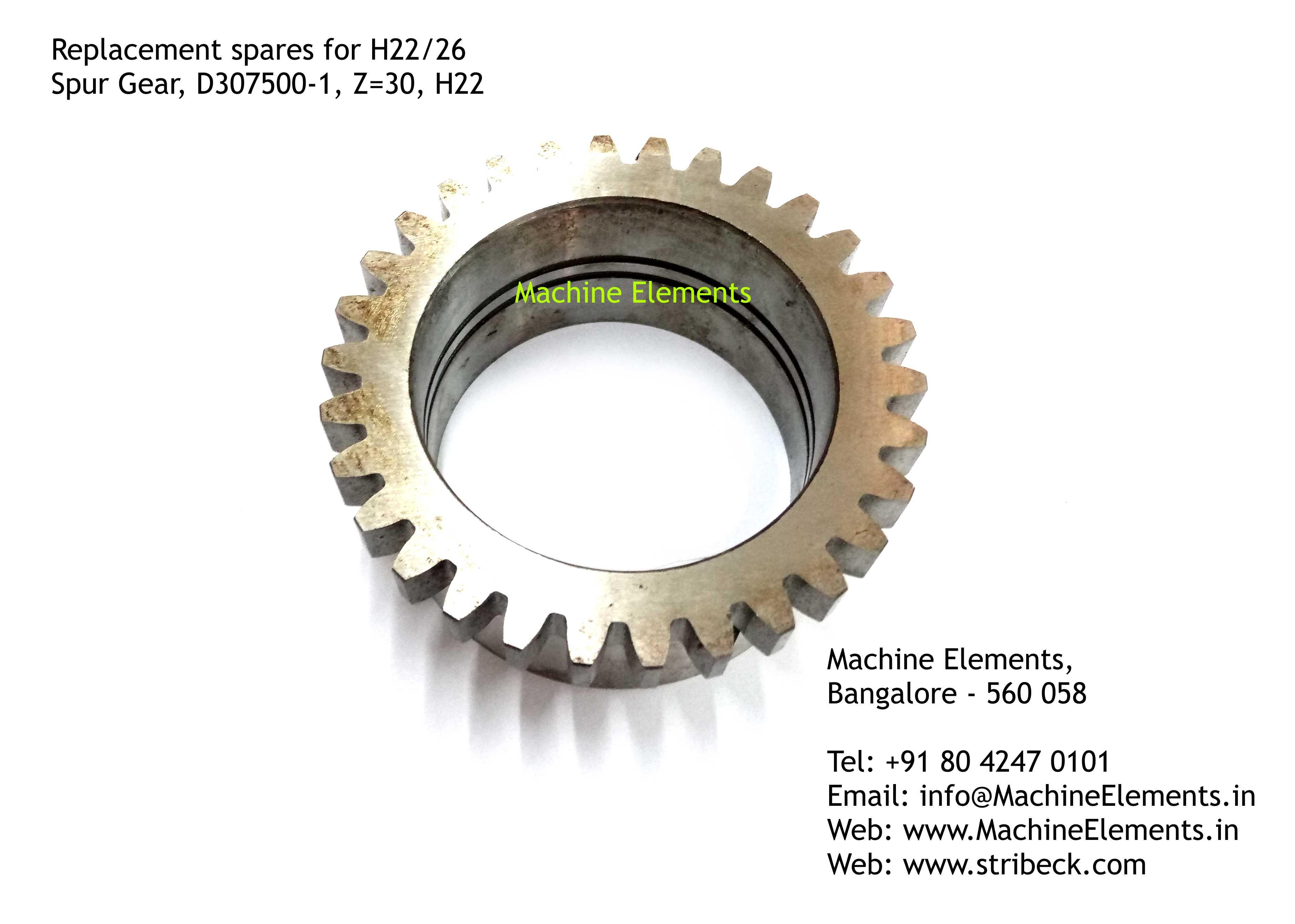 Spur Gear, D2307500-1, Z=30