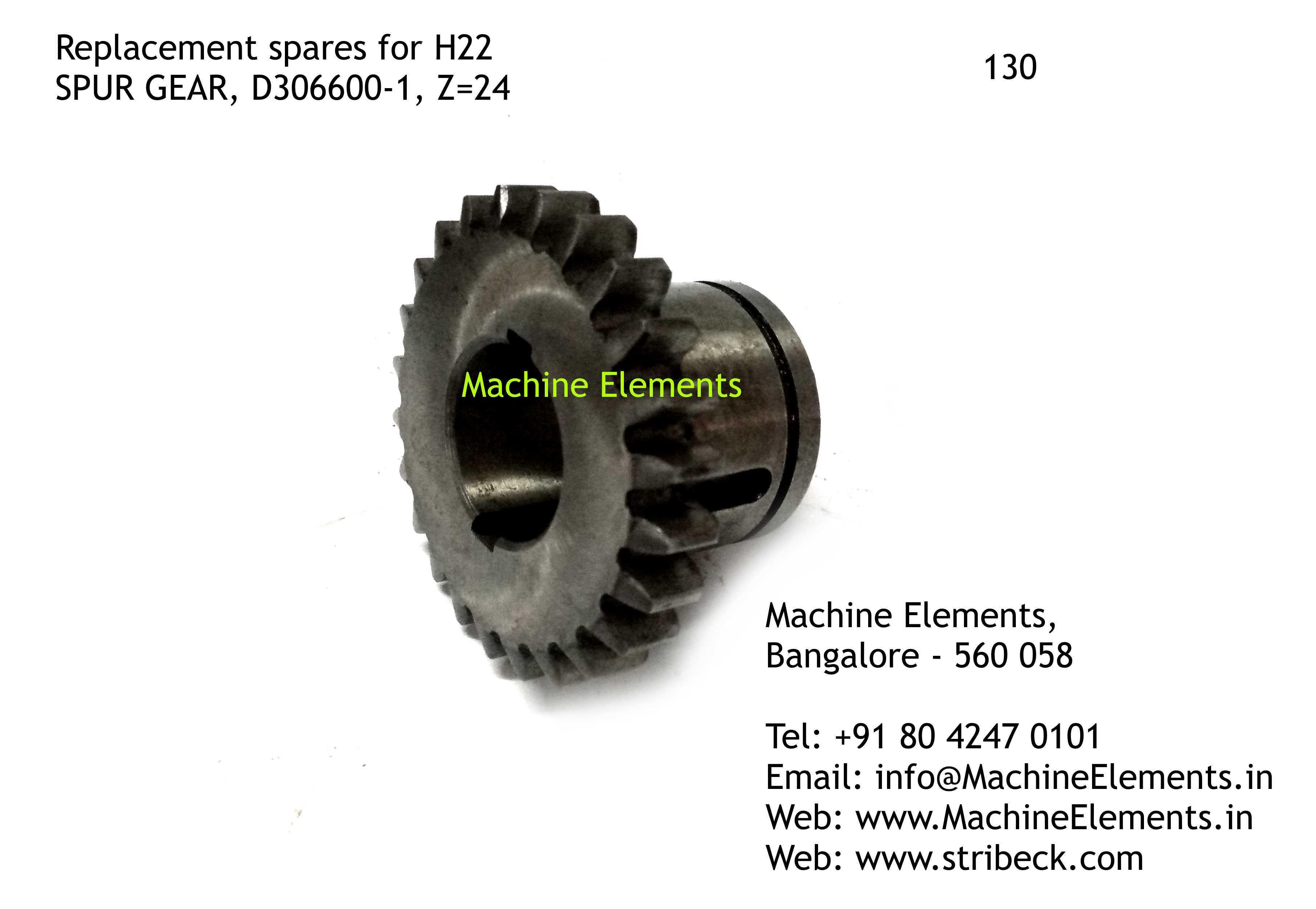 SPUR GEAR, D306600-1, Z=24