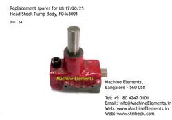 Head Stock Pump Body, F0463001
