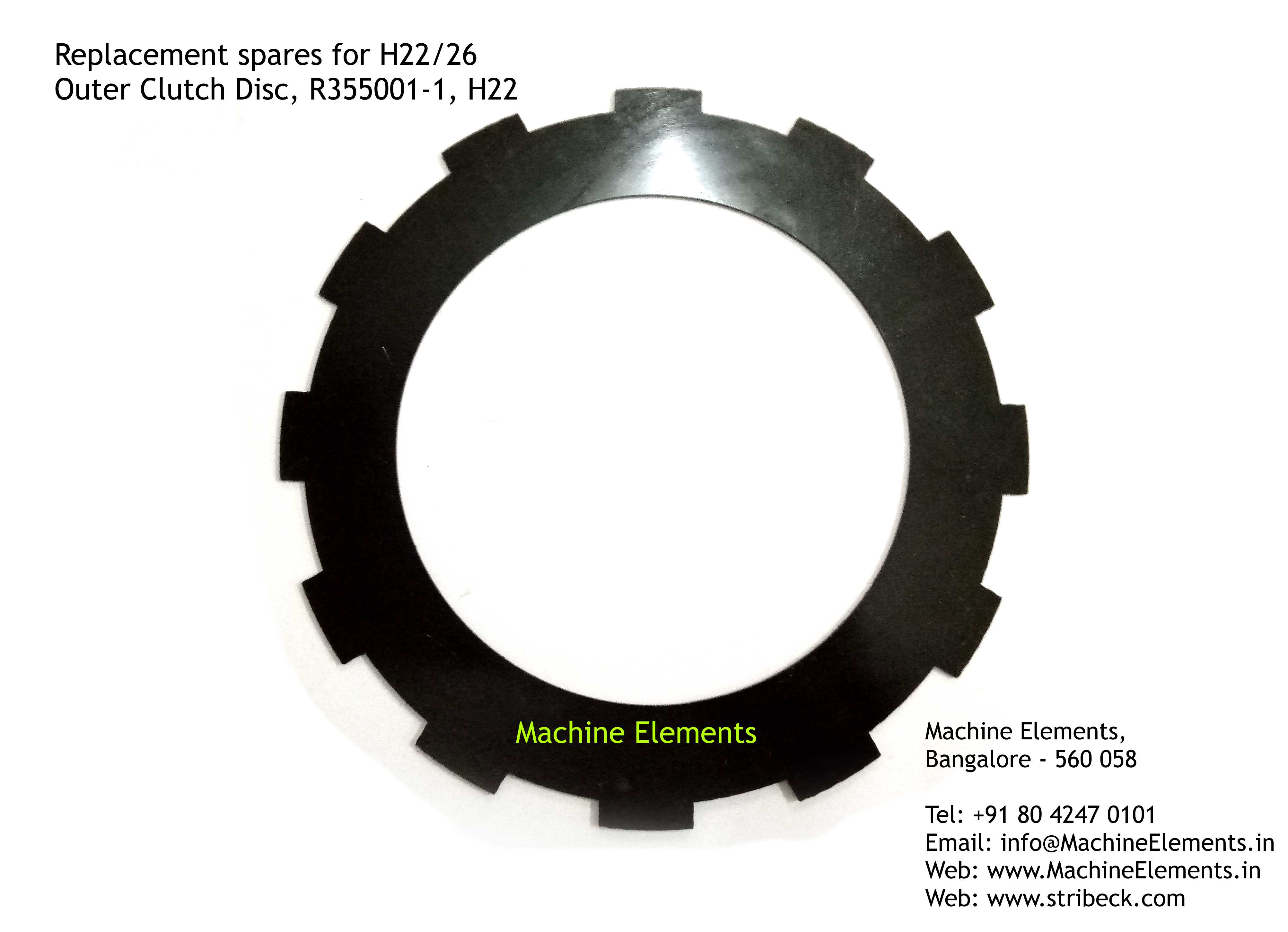 Outer Clutch Disc, H355001-1, H22