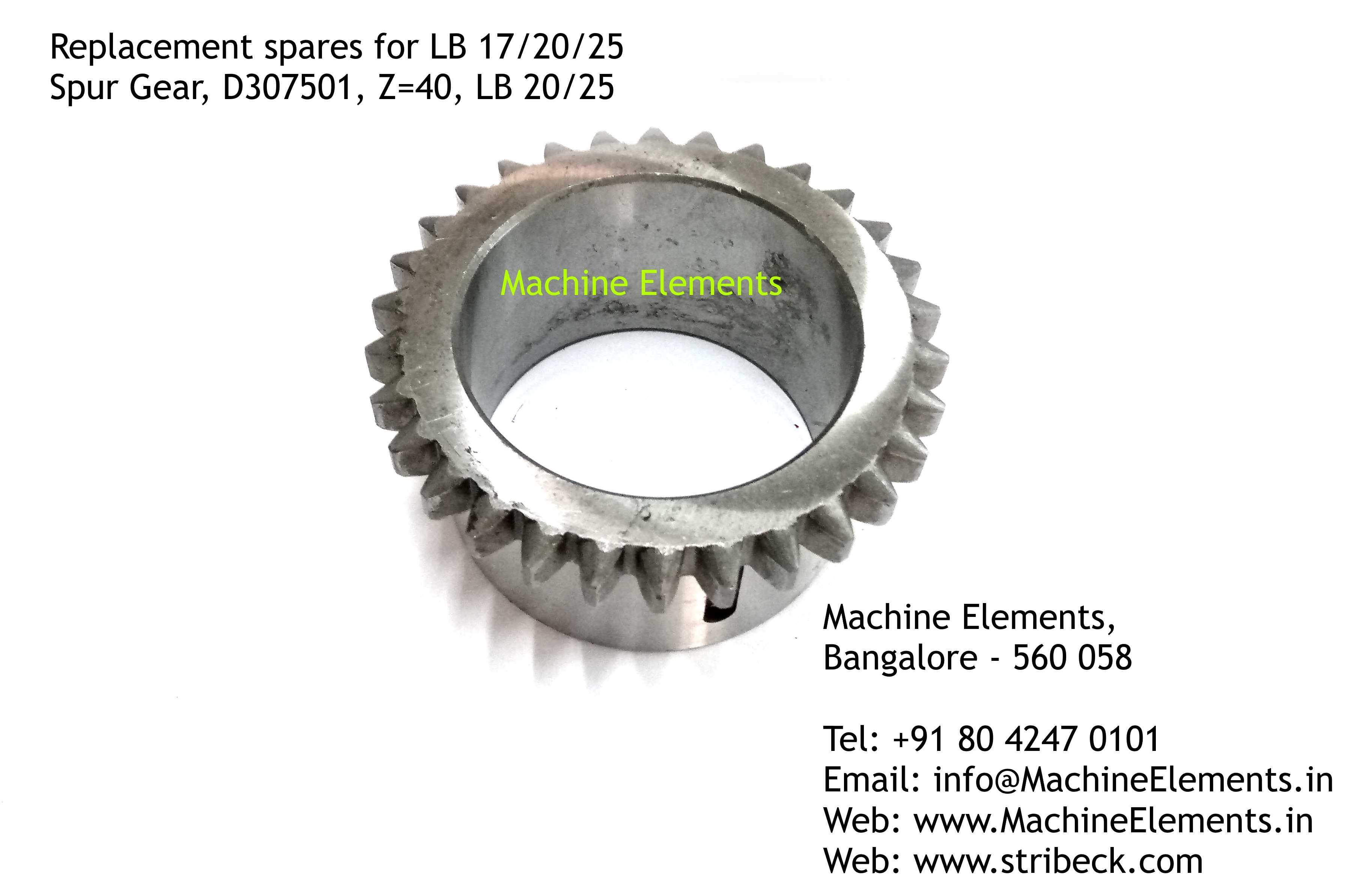 Spur Gear, D307501, Z=40