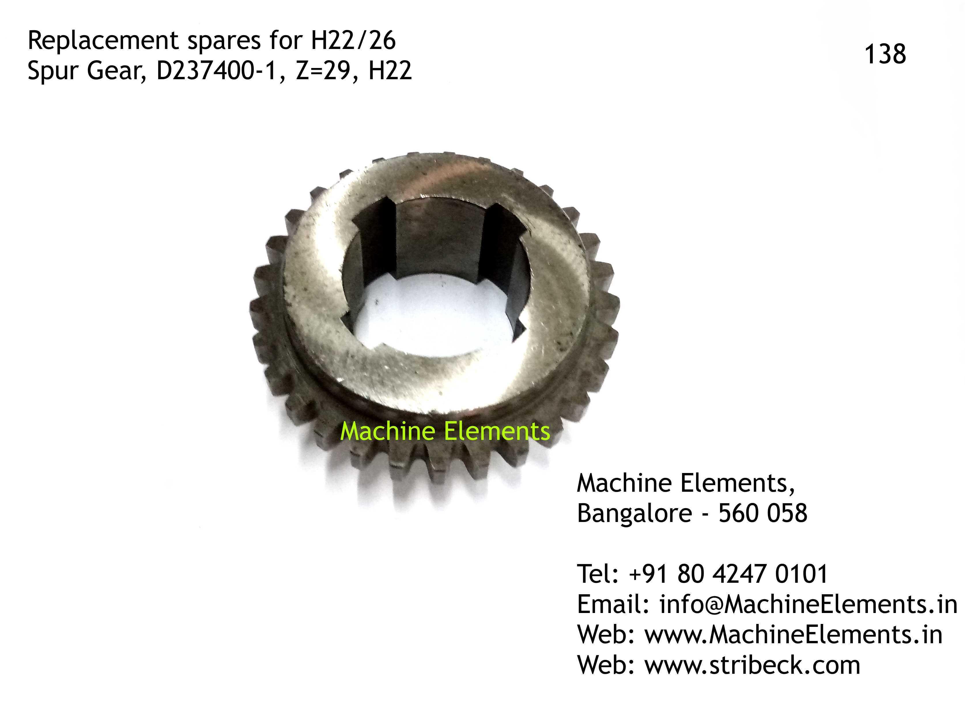 Spur Gear, D237400-1, Z=29