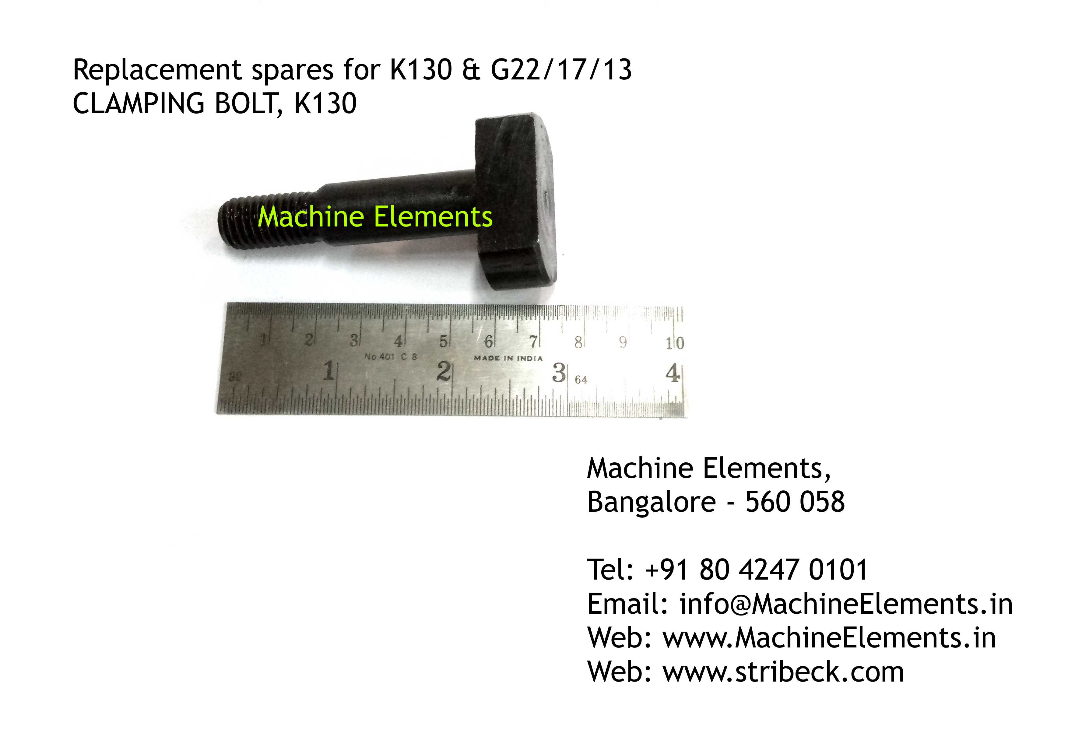 CLAMPING BOLT, K130