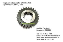 Spur Gear, D2353893, Z=45