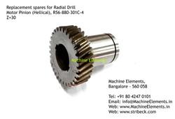 Motor Pinion (Helical), R56-880-301C-4,