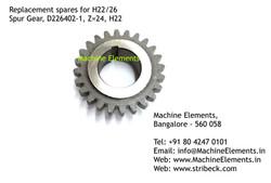 Spur Gear, D226402-1, Z=24