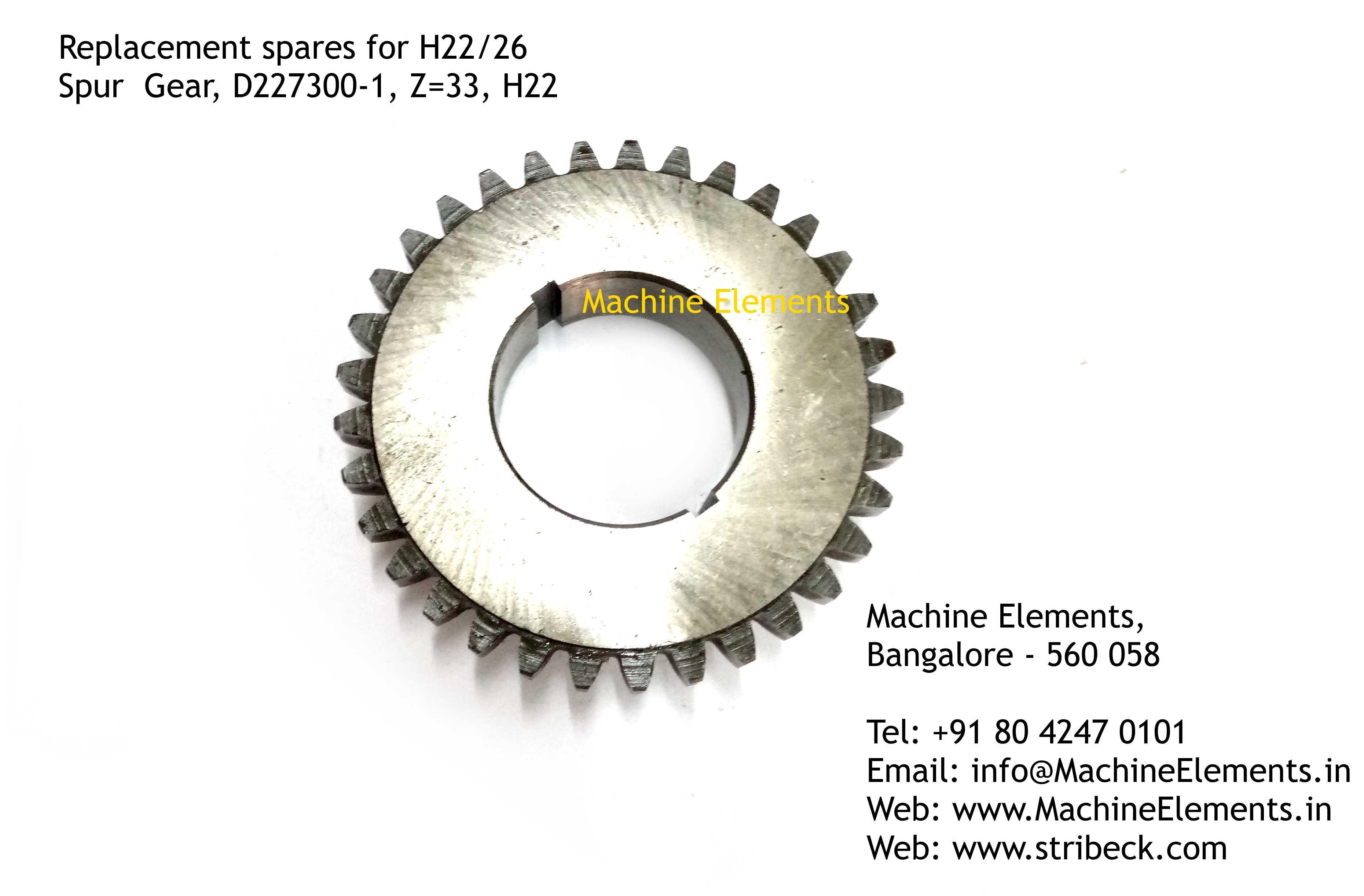 Spur Gear, D227300-1, Z=33