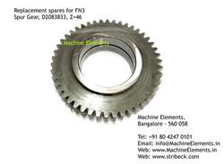 Spur Gear, D2083833, Z=46