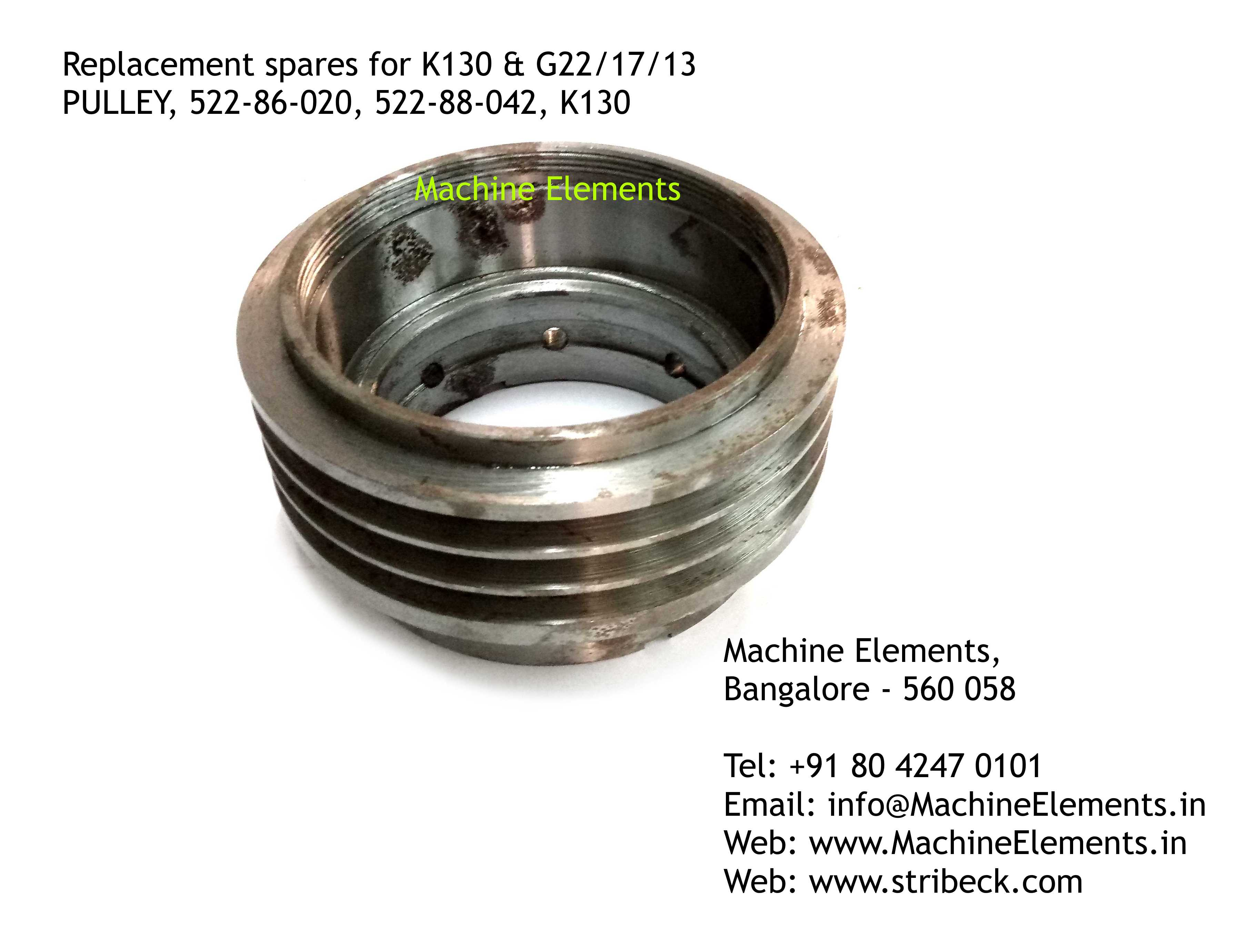 PULLEY, 522-86-020, 522-88-042