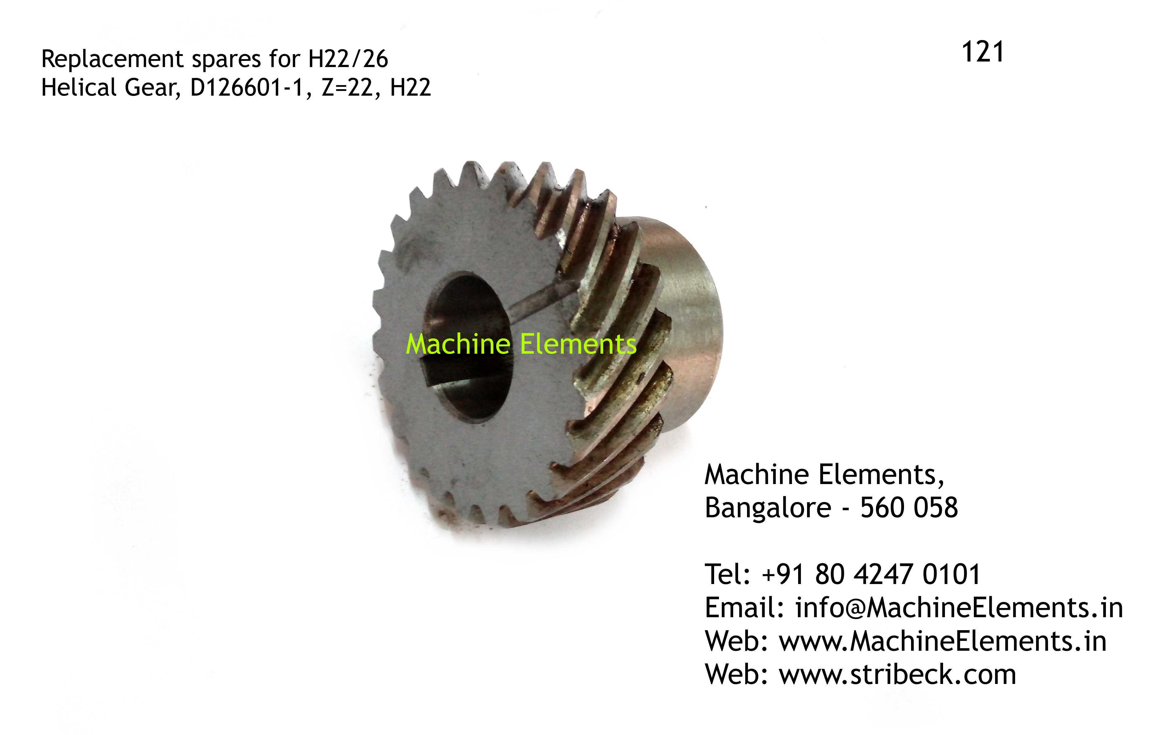 Helical Gear, D126601-1