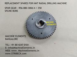 SPUR GEAR- R56-880-300d-4  Z50- SPLINE B