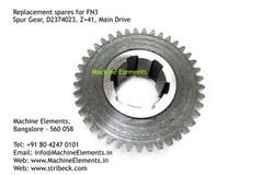 Spur Gear, D2374023, Z=41, Main Drive