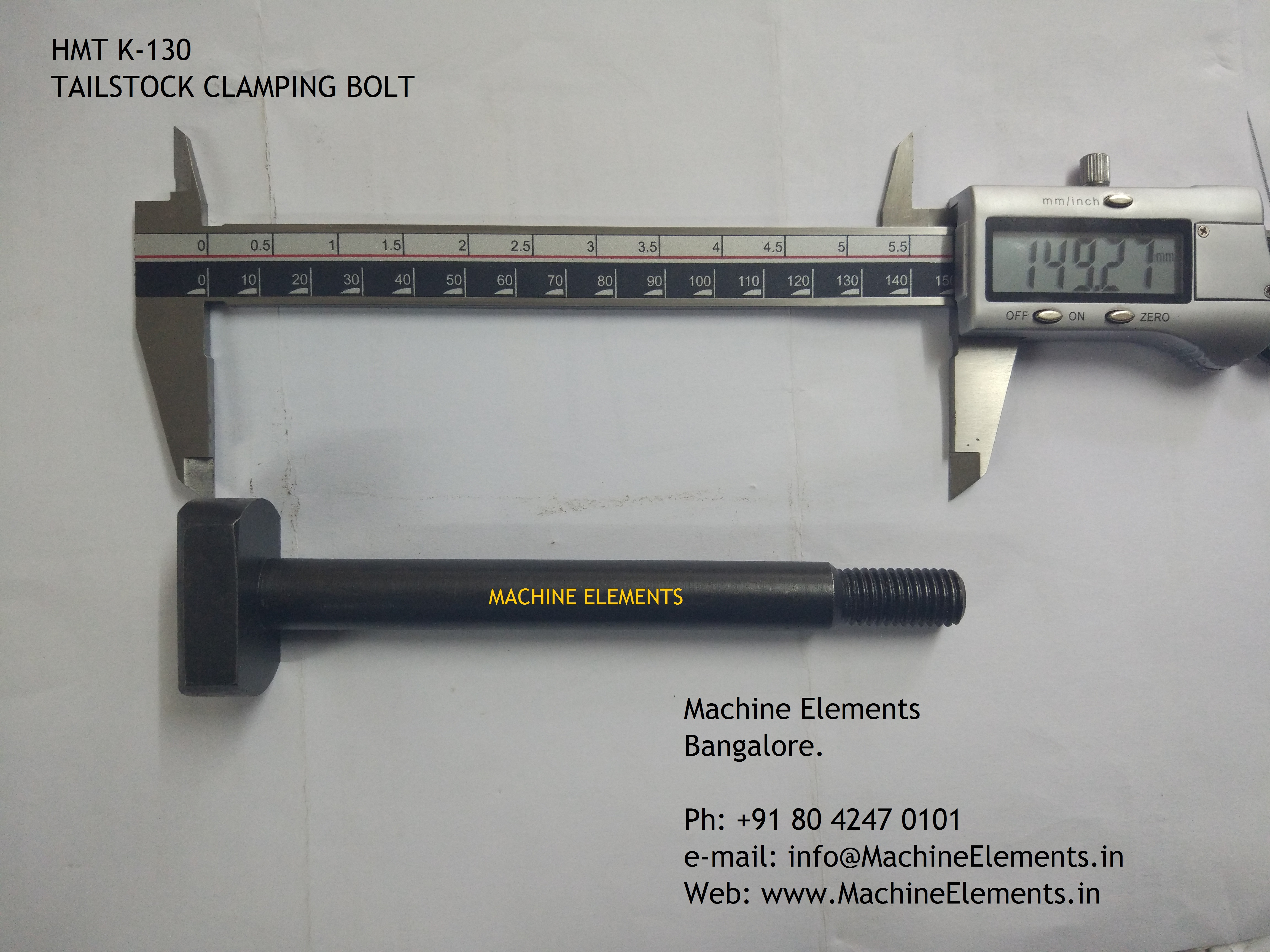 tailstock bolt