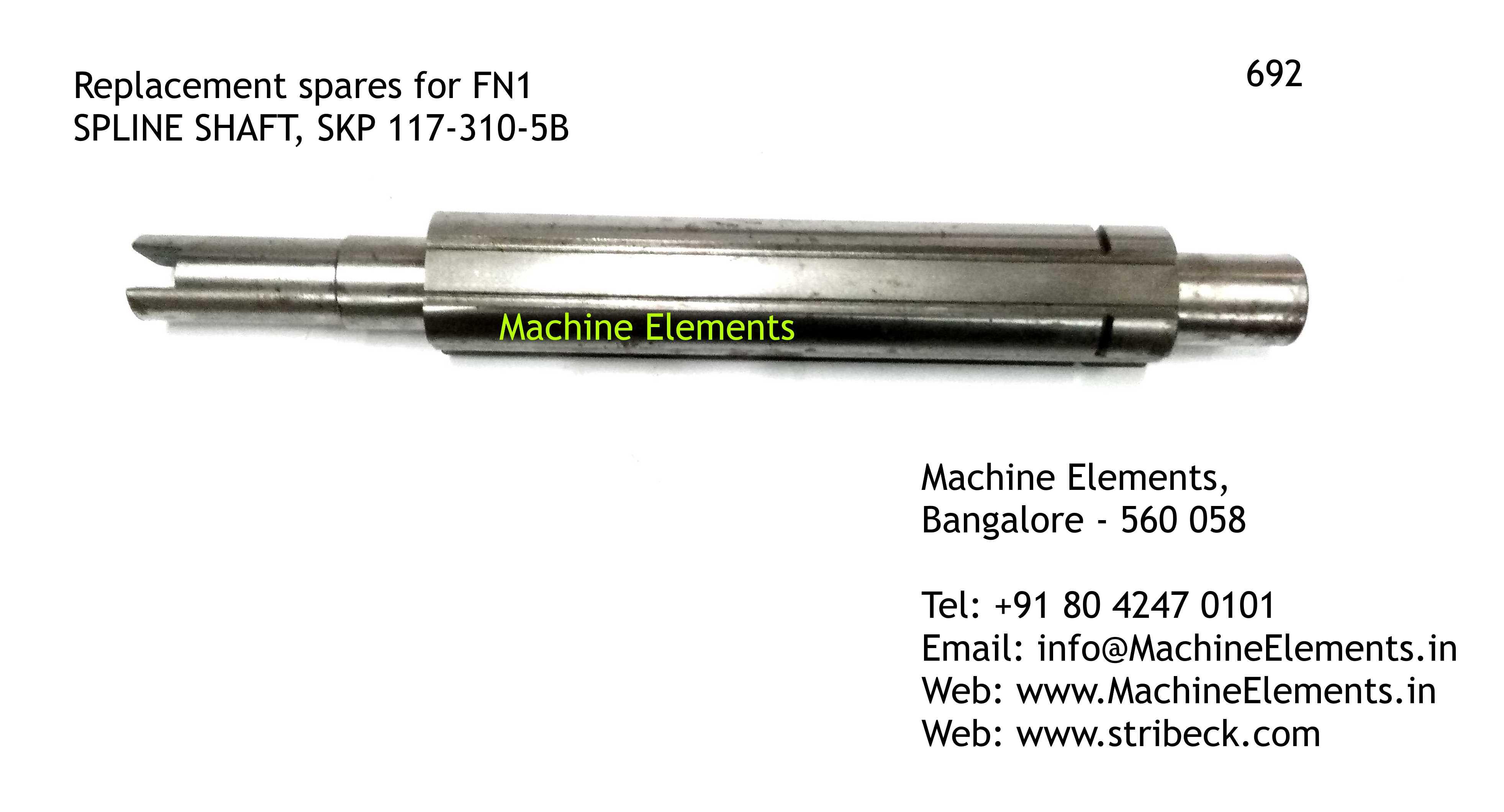 SPLINE SHAFT, SKP 117-310-5B