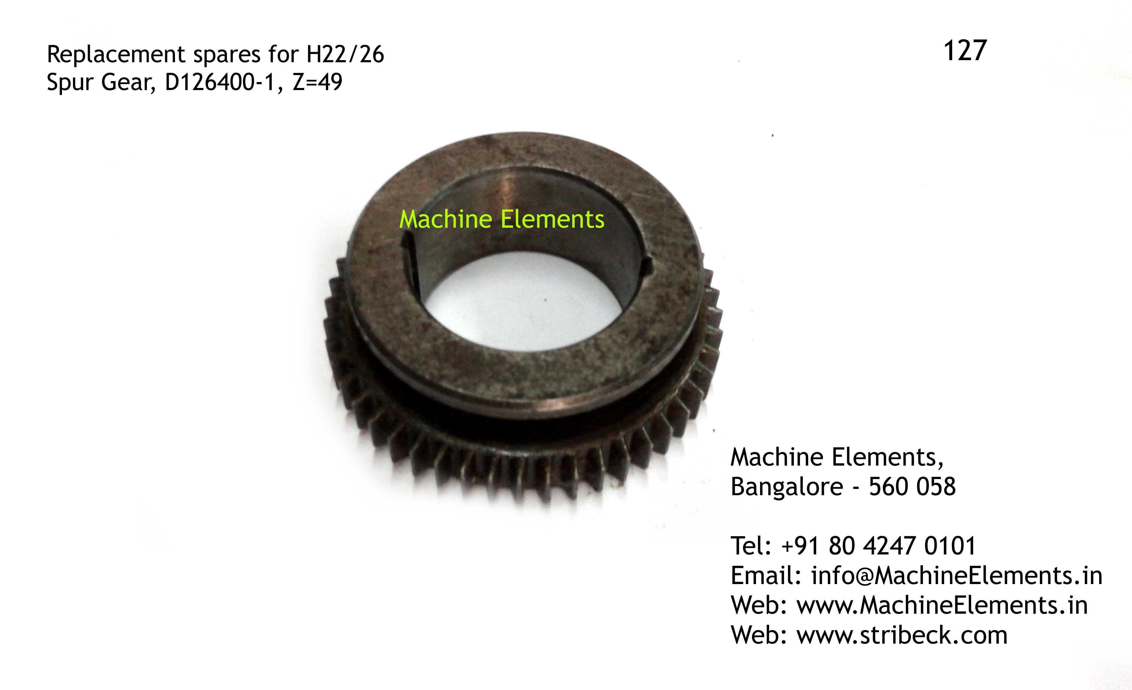Spur Gear, D126400-1, Z=49