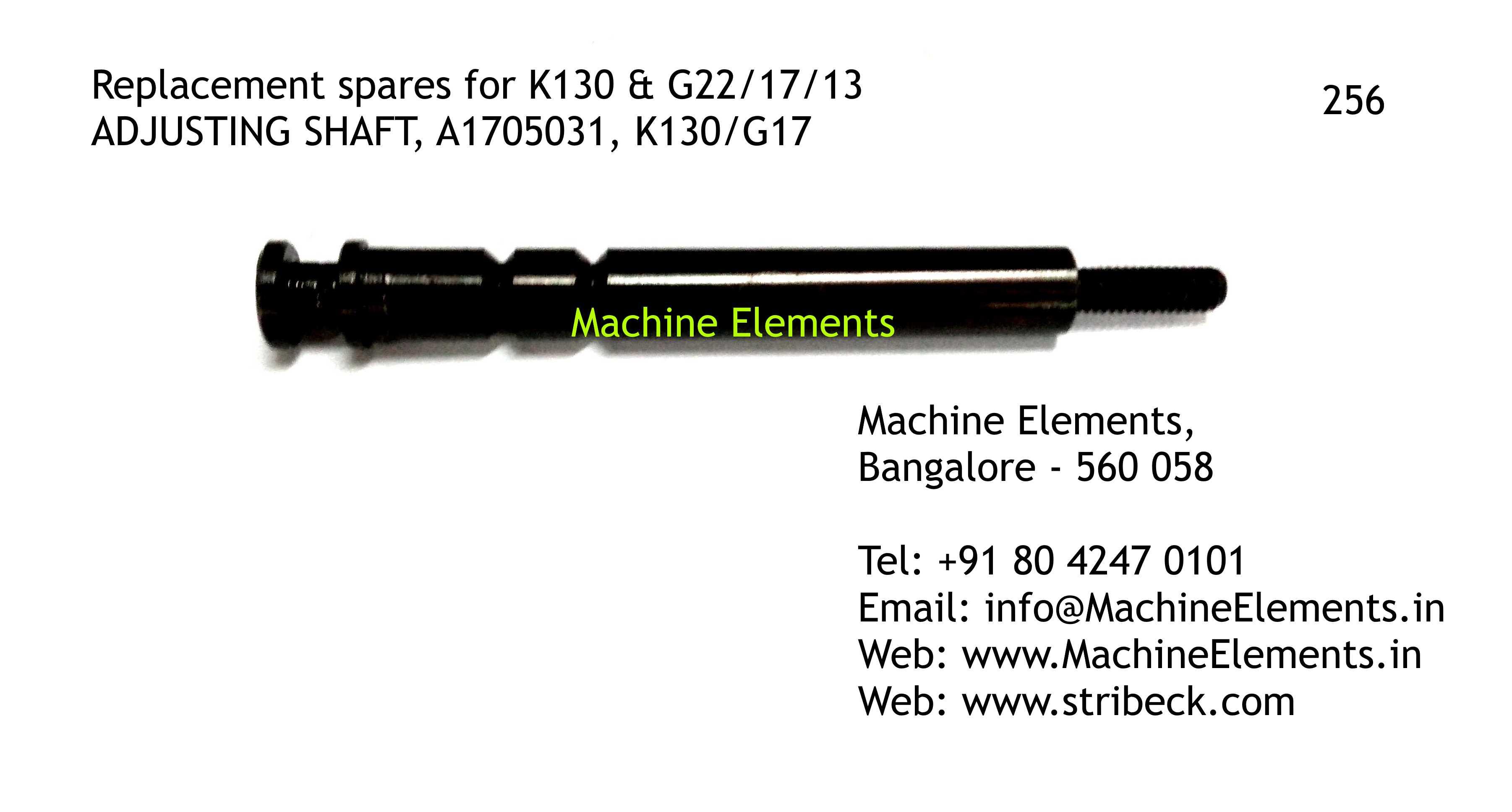 ADJUSTING SHAFT, A1705031