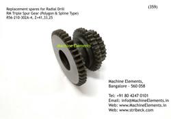 RM TRIPLE SPUR GEAR, R56-210-302A-4