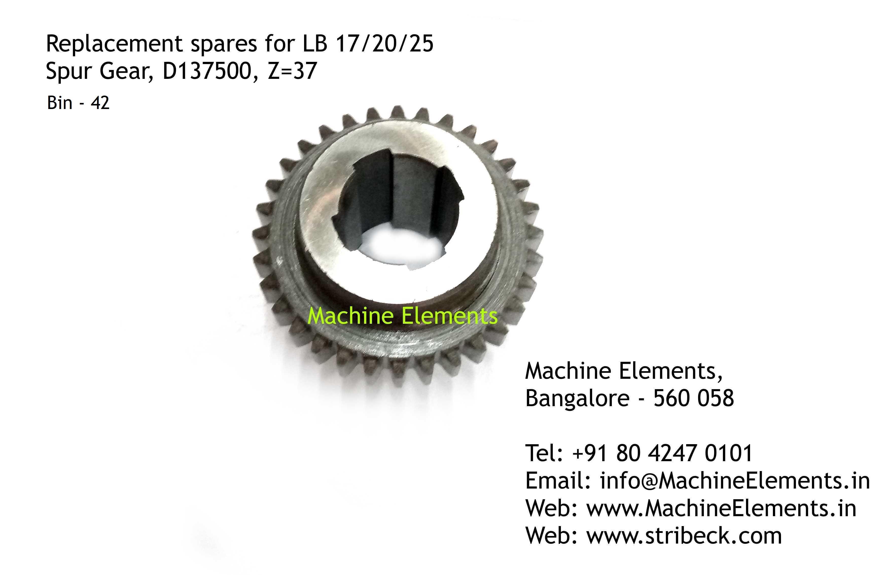 Spur Gear, D137500, Z=37