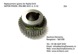 MOTOR PINION, R56-880-301C-4,, Z=32