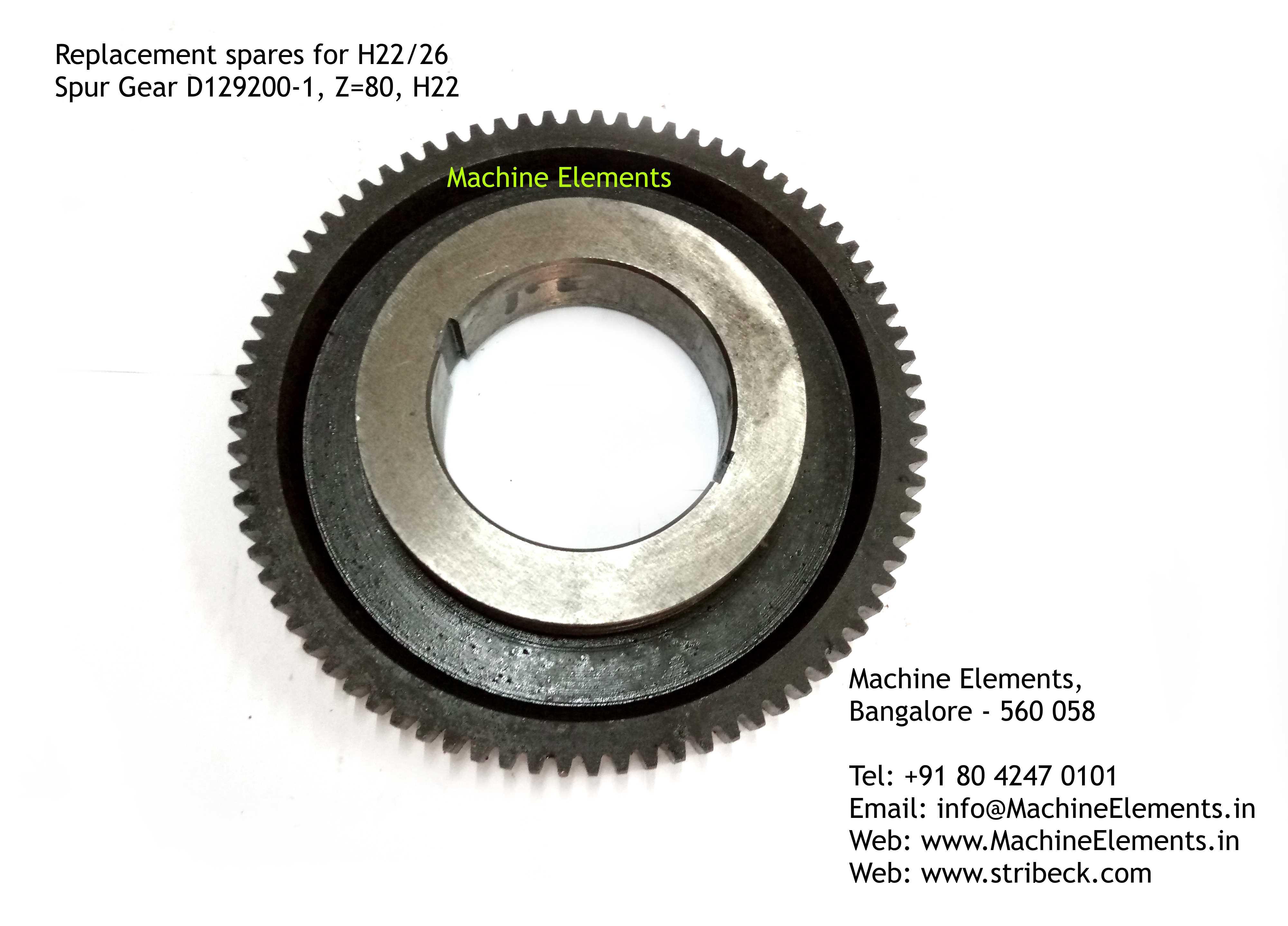 Spur Gear D129200-1, Z=80, H22
