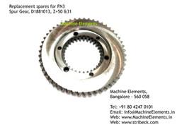 Spur Gear, D1881013, Z=50 & 31