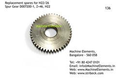 Spur Gear, D007200-1, Z=46