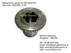 Spur Gear, D4377803, Z=49