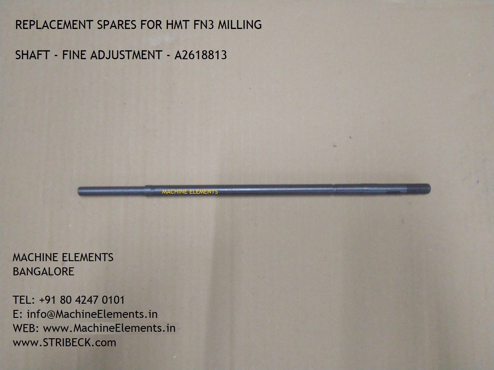 A2618813 - shaft - fine adjustment
