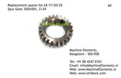 Spur Gear, D024301, Z=24