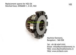 Notched Gear, D456600-1, Z=24