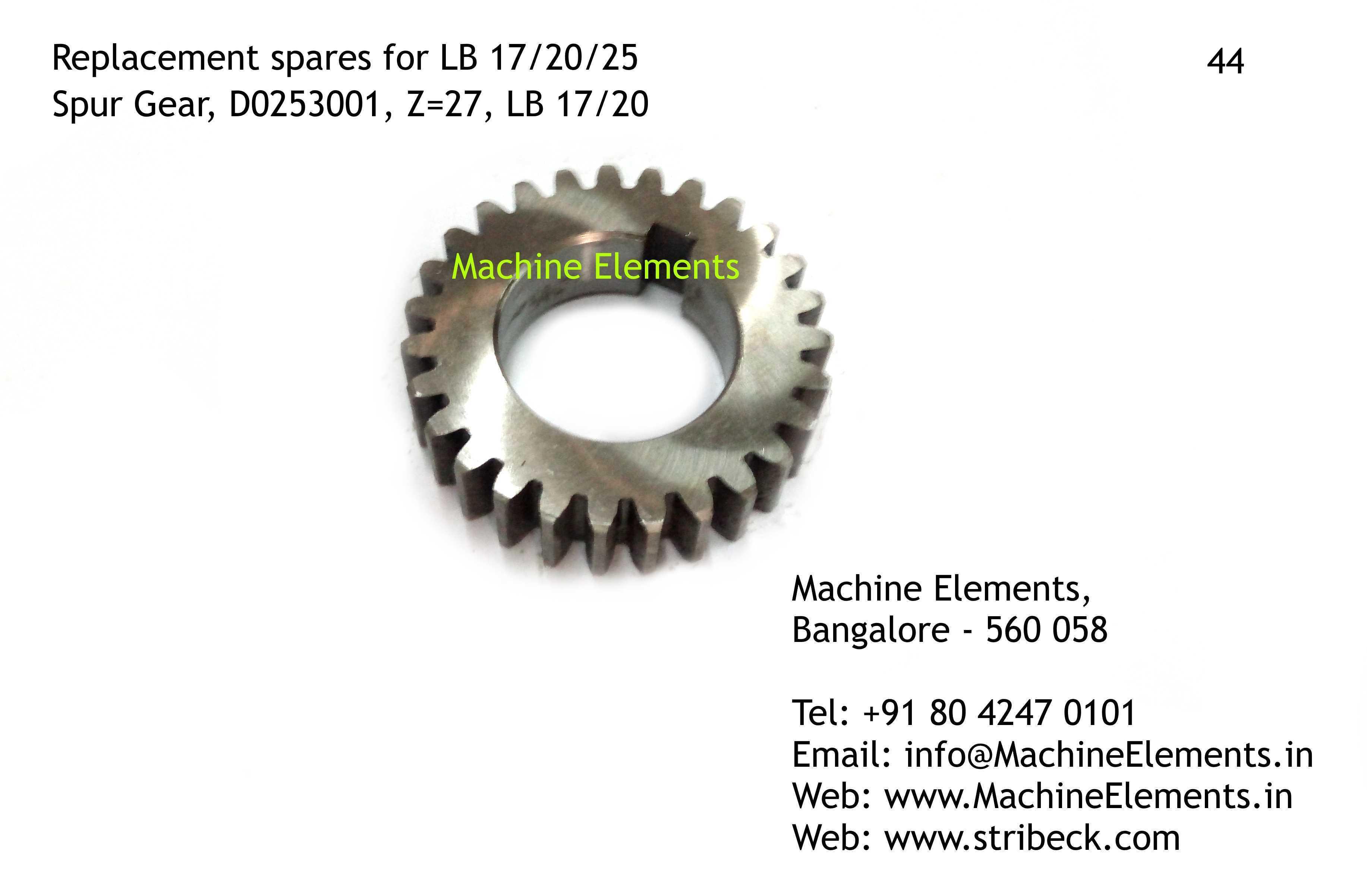 Spur Gear, D0253001, Z=27
