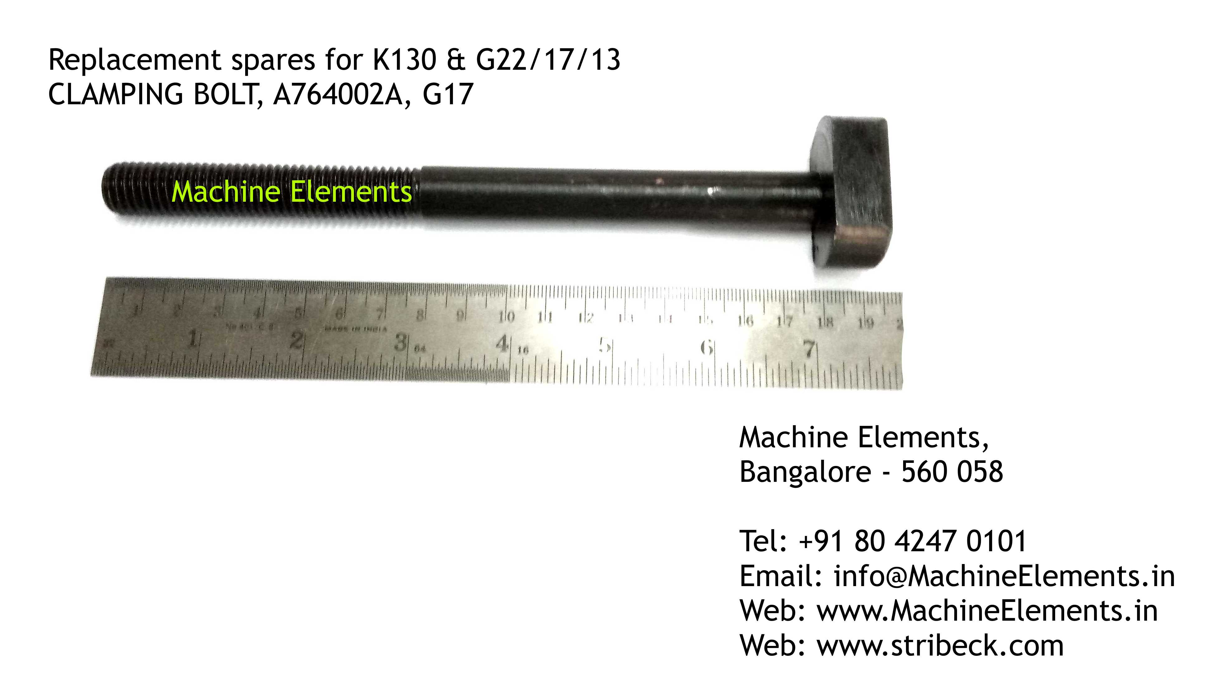 CLAMPING BOLT, A764002A