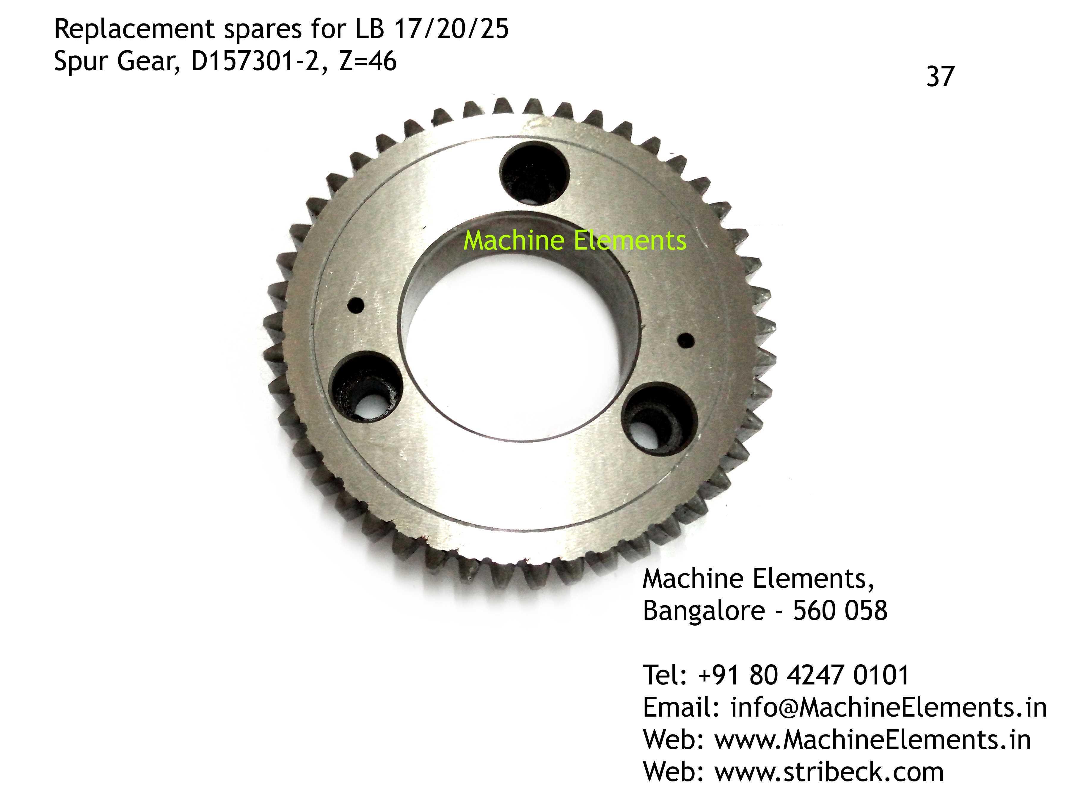 Spur Gear, D157301-2, Z=46
