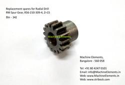 RM Spur Gear, R56-210-309-4, Z=15