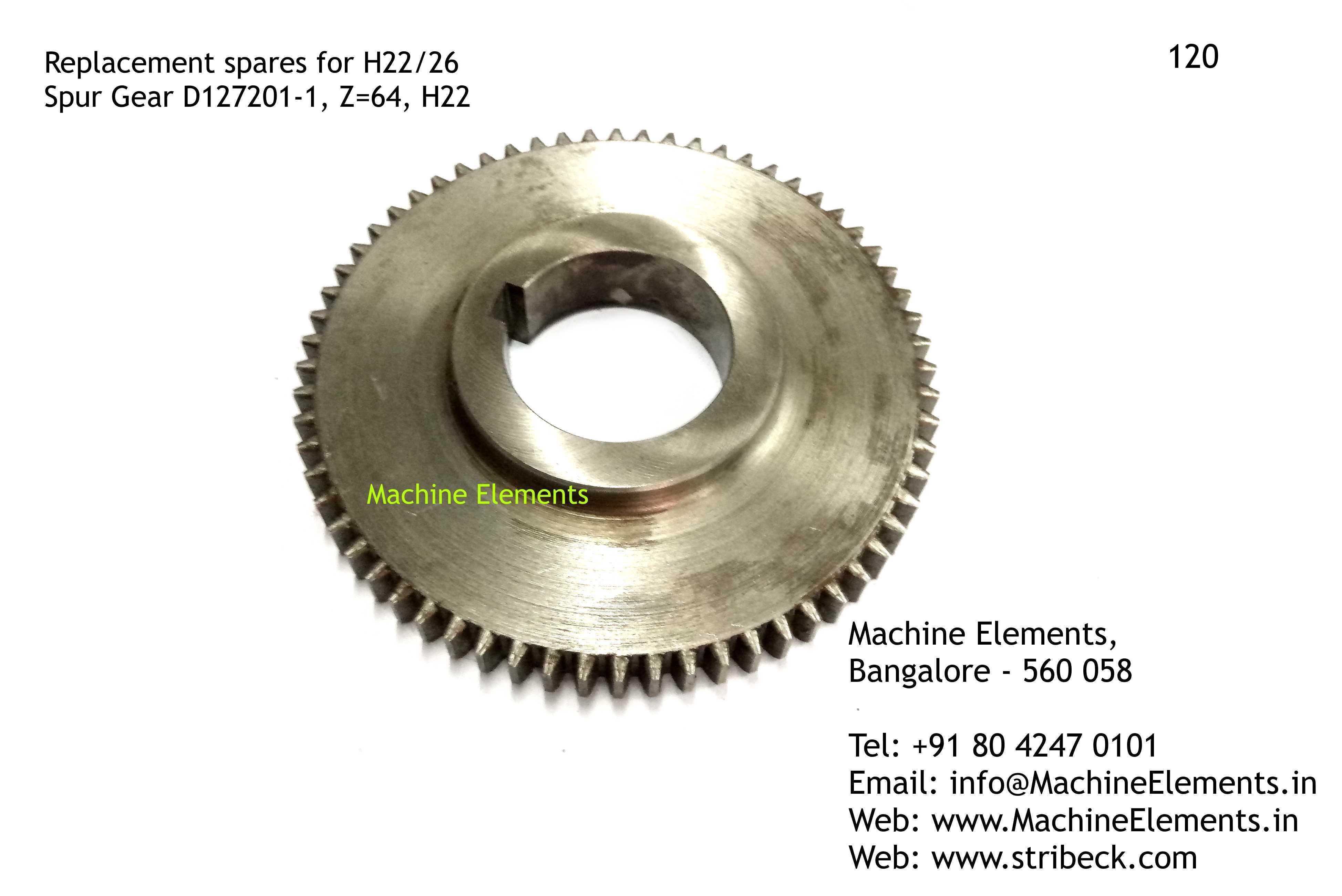 Spur Gear, D127201-1, Z=64